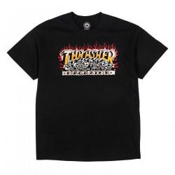 THRASHER, T-shirt krak skulls ss, Black