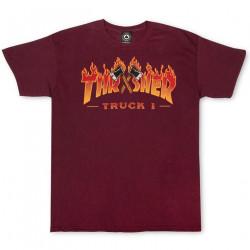 THRASHER, T-shirt truck ss, Maroon
