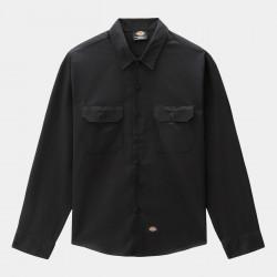 DICKIES, Long sleeve work shirt, Black