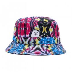 RIPNDIP, Lord nermal cotton dyed bucket hat, Sunburst spiral tie dye