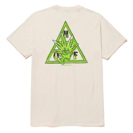 T-shirt green buddy tt ss - Natural