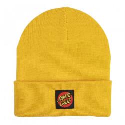 SANTA CRUZ, Classic label beanie, Mustard