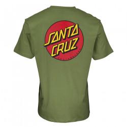 SANTA CRUZ, Classic dot chest t-shirt, Dill green