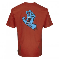 SANTA CRUZ, Screaming hand chest t-shirt, Ketchup
