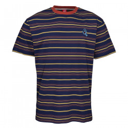 SANTA CRUZ, Mini hand stripe t-shirt, Dark navy