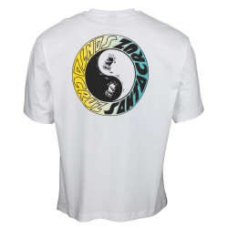 SANTA CRUZ, Scream ying yang ring t-shirt, White