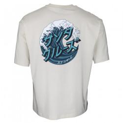 SANTA CRUZ, Japanese wave dot t-shirt, Off white