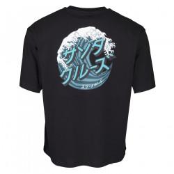 SANTA CRUZ, Japanese wave dot t-shirt, Black