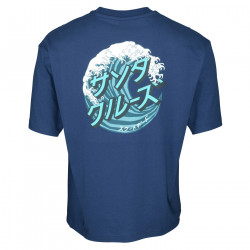 SANTA CRUZ, Japanese wave dot t-shirt, Dark navy