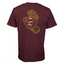 SANTA CRUZ, Void hand t-shirt, Burgundy
