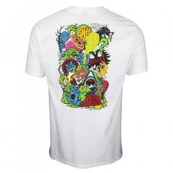 SANTA CRUZ, Sw logo mash t-shirt, White