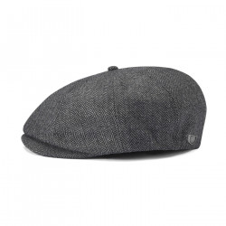 BRIXTON, Brood snap cap, Grey/black