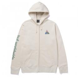 HUF, Sweat prism tt full zip hoodie, Natural
