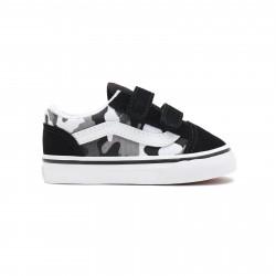 VANS, Old skool v, (primary camo) black/true white