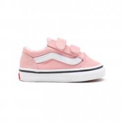 VANS, Old skool v, Powder pink/true white