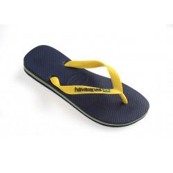 HAVAIANAS, Brasil logo, Navy blue/citrus yellow