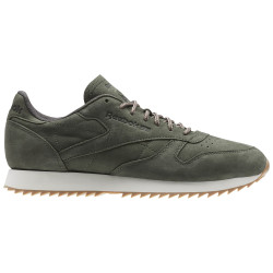 REEBOK, Cl leather ripple wp, Hunter green/urban grey/chalk
