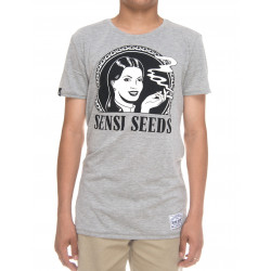 SENSI SEEDS, T-shirt original logo, Heather grey