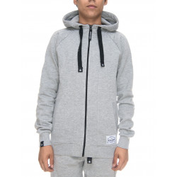 SENSI SEEDS, Zipped hoodie original, Heather grey