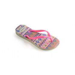 HAVAIANAS, Kids slim fashion, Hav. kids slim fashion beige/pink