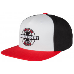 INDEPENDENT, 95 btg ring snapback, Red/black