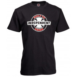 INDEPENDENT, 95 btg ring tee, Black