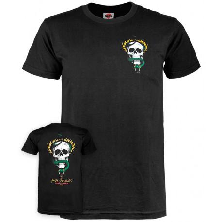 T-shirt mcgill skull & snake - Black