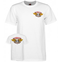 POWELL PERALTA, T-shirt winged ripper, White