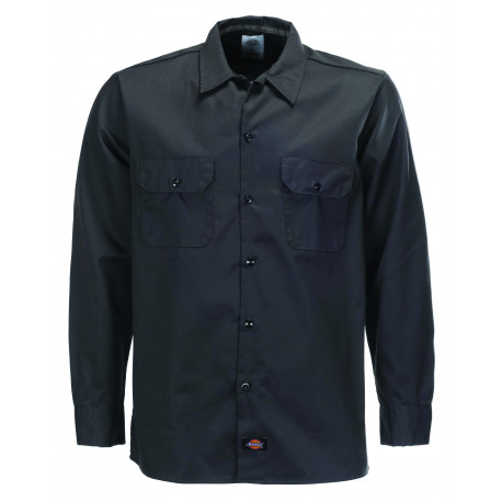 L/s slim shirt - Black