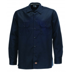 DICKIES, L/s slim shirt, Dark navy