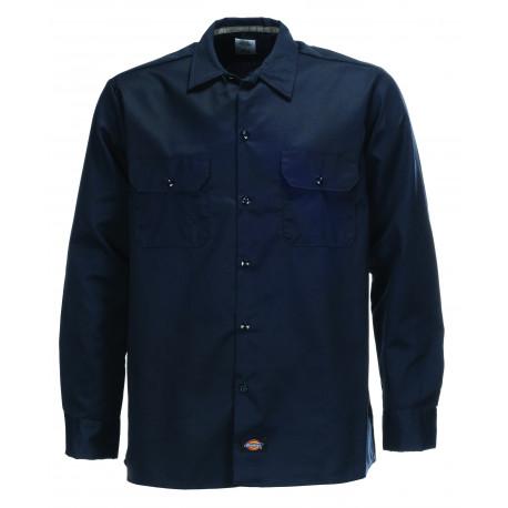 L/s slim shirt - Dark navy