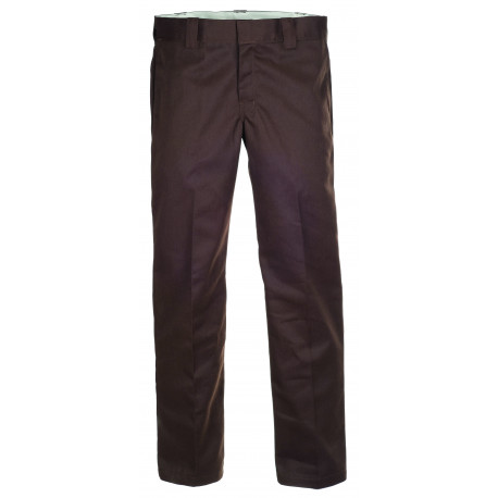 S/stght work pant - Chocolate brown